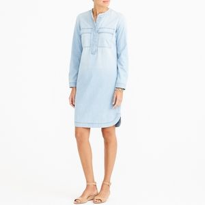 J. CREW FACTORY LIGHT INDIGO SHIRT DRESS CHAMBRAY